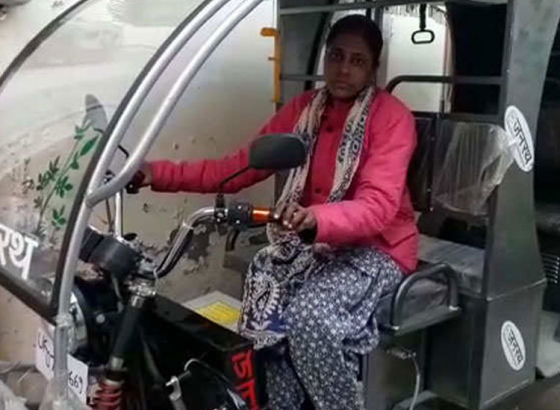 Freedom on three-wheel at Dehradun
