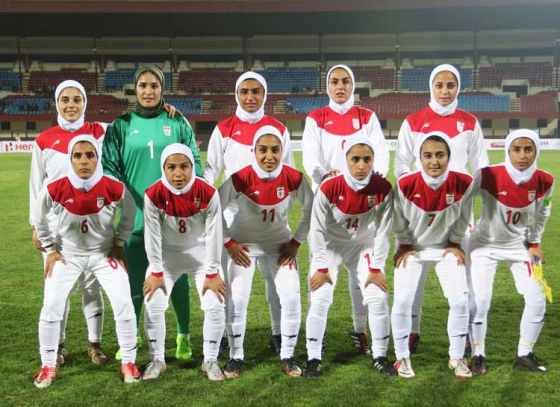 Iranian women embracing the tradition 'on the field'