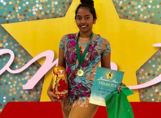Rhythmic gymnast Ananya becomes the first Indian to win gold and silver medals in Moscow