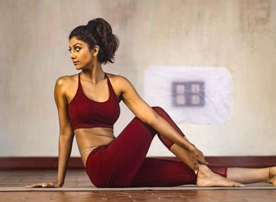 Shilpa's Yoga Session on Yoga Day