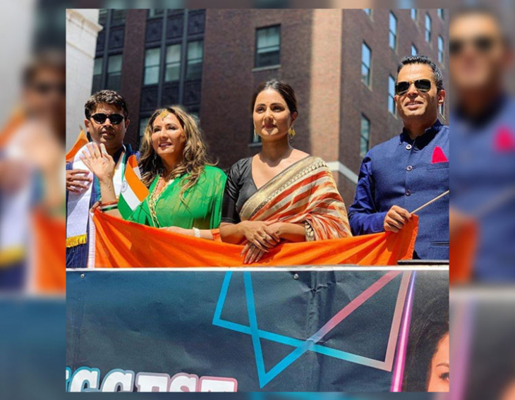Hina Khan Unfurls National Flag in NYC
