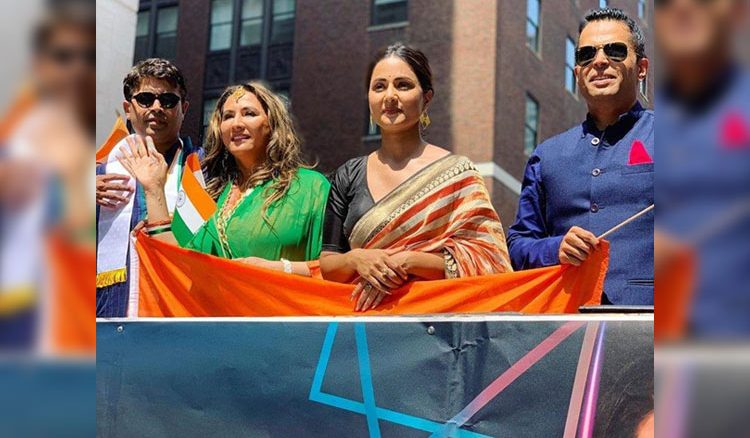 Hina Khan Unfurls National Flag in NYC