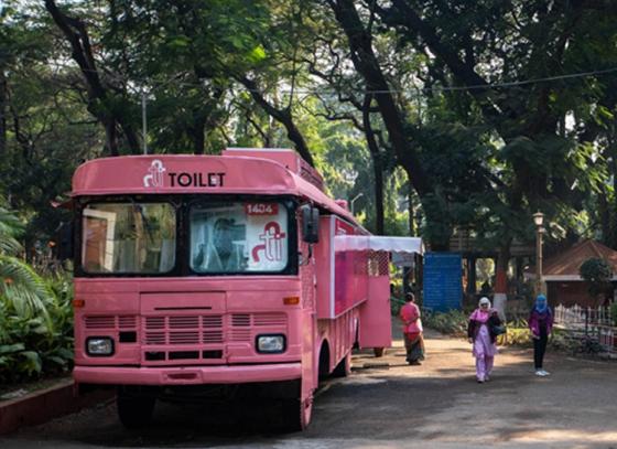Old buses refurbished to ladies' toilets